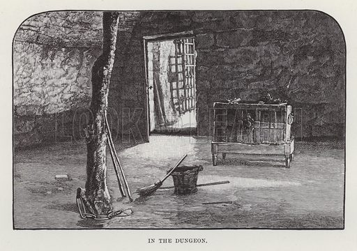 Cawdor Castle, In the Dungeon. Illustration for Historic Houses of the United Kingdom (Cassell, 1892).