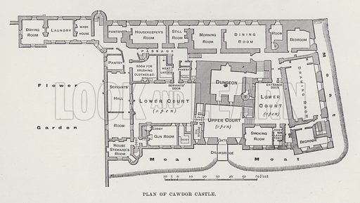 Plan of Cawdor Castle. Illustration for Historic Houses of the United Kingdom (Cassell, 1892).