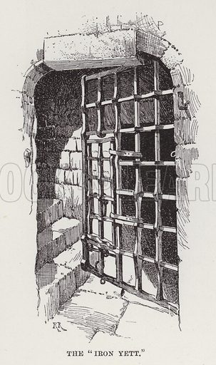 """Cawdor Castle, The """"Iron Yett."""" Illustration for Historic Houses of the United Kingdom (Cassell, 1892)."""