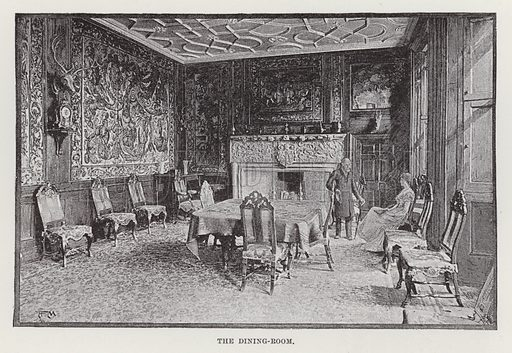 Cawdor Castle, The Dining-Room. Illustration for Historic Houses of the United Kingdom (Cassell, 1892).