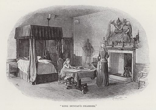 """Cawdor Castle, """"King Duncan's Chamber."""" Illustration for Historic Houses of the United Kingdom (Cassell, 1892)."""