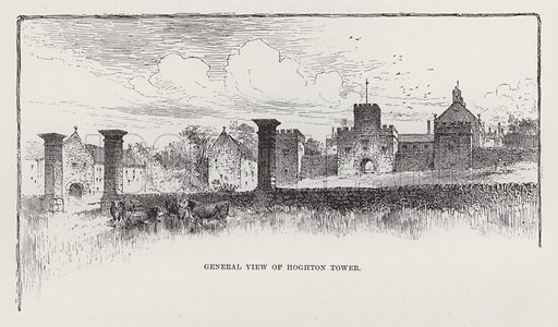 General View of Hoghton Tower. Illustration for Historic Houses of the United Kingdom (Cassell, 1892).