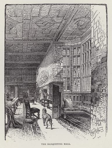 Hoghton Tower, The Banqueting Hall. Illustration for Historic Houses of the United Kingdom (Cassell, 1892).