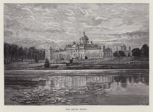 Castle Howard, The South Front. Illustration for Historic Houses of the United Kingdom (Cassell, 1892).