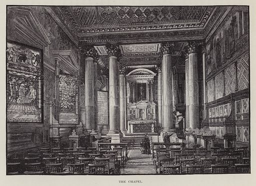 Castle Howard, The Chapel. Illustration for Historic Houses of the United Kingdom (Cassell, 1892).