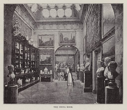 Castle Howard, The China Room. Illustration for Historic Houses of the United Kingdom (Cassell, 1892).