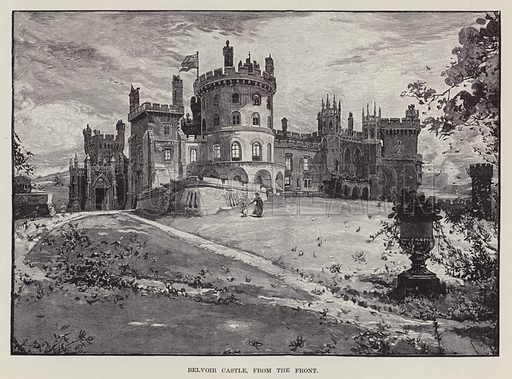 Belvoir Castle, from the Front. Illustration for Historic Houses of the United Kingdom (Cassell, 1892).