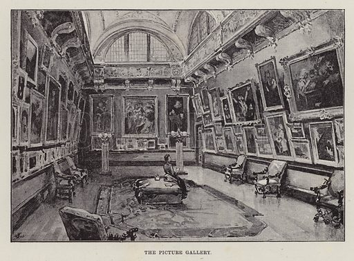 Belvoir Castle, The Picture Gallery. Illustration for Historic Houses of the United Kingdom (Cassell, 1892).