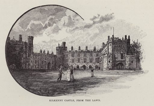 Kilkenny Castle, from the Lawn. Illustration for Historic Houses of the United Kingdom (Cassell, 1892).