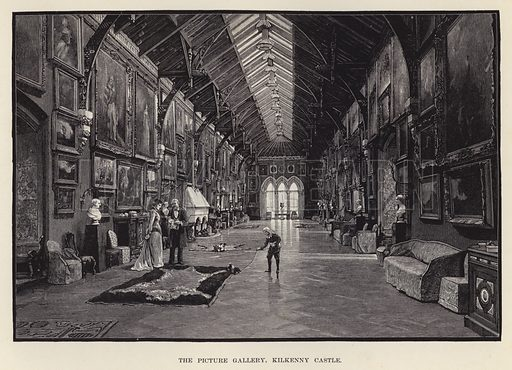 The Picture Gallery, Kilkenny Castle. Illustration for Historic Houses of the United Kingdom (Cassell, 1892).