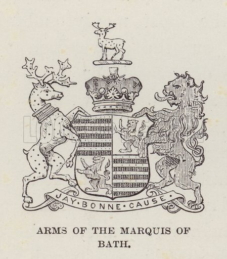 Longleat, Arms of the Marquis of Bath. Illustration for Historic Houses of the United Kingdom (Cassell, 1892).