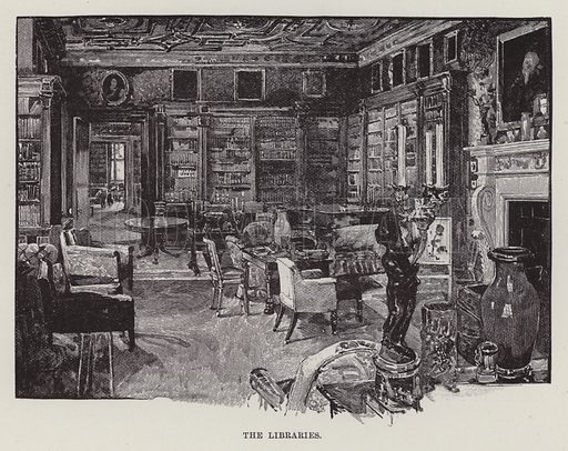 Longleat, The Libraries. Illustration for Historic Houses of the United Kingdom (Cassell, 1892).