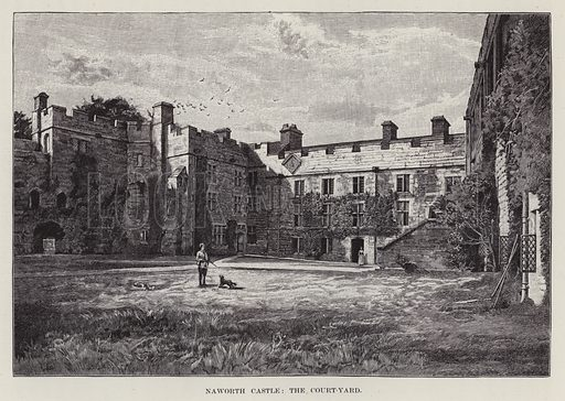 Naworth Castle, The Court-Yard. Illustration for Historic Houses of the United Kingdom (Cassell, 1892).