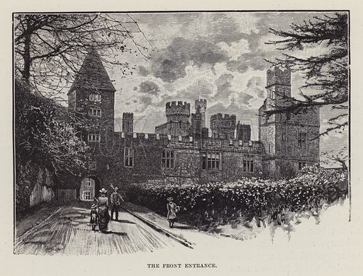 Lismore Castle, The Front Entrance. Illustration for Historic Houses of the United Kingdom (Cassell, 1892).