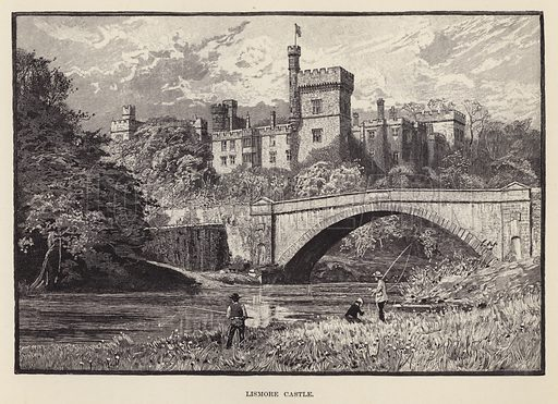 Lismore Castle. Illustration for Historic Houses of the United Kingdom (Cassell, 1892).