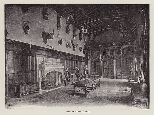 Newstead Abbey, The Dining Hall. Illustration for Historic Houses of the United Kingdom (Cassell, 1892).