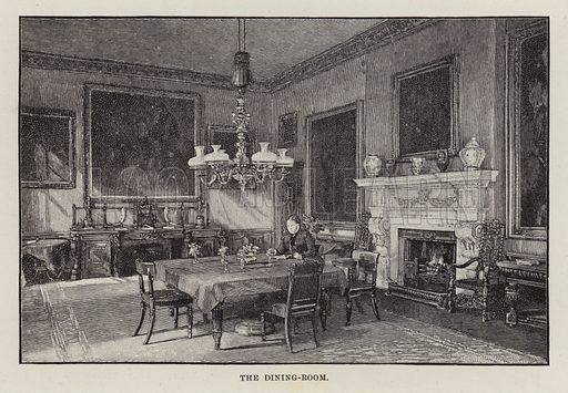 Chillingham Castle, The Dining-Room. Illustration for Historic Houses of the United Kingdom (Cassell, 1892).