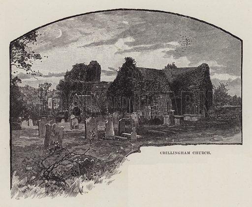 Chillingham Castle, Chillingham Church. Illustration for Historic Houses of the United Kingdom (Cassell, 1892).