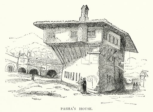 Pasha's House. Illustration for Hungary by Arminius Vambery (7th edn, T Fisher Unwin, 1886).