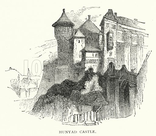 Hunyad Castle. Illustration for Hungary by Arminius Vambery (7th edn, T Fisher Unwin, 1886).