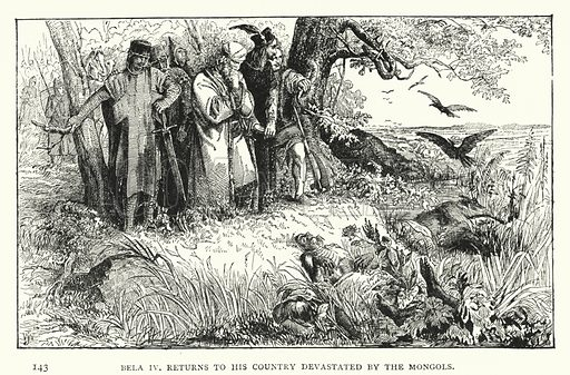 Bela IV, Returns to His Country Devastated by the Mongols. Illustration for Hungary by Arminius Vambery (7th edn, T Fisher Unwin, 1886).