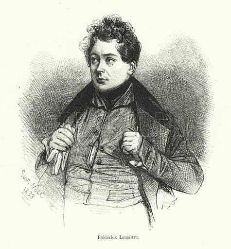Frederick Lemaitre. Illustration for Dictionnaire du Theatre by Arthur Pougin (Alcide Picard et Kaan, 1884).