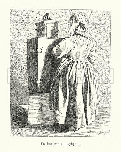 La lanterne magique. Illustration for Dictionnaire du Theatre by Arthur Pougin (Alcide Picard et Kaan, 1884).