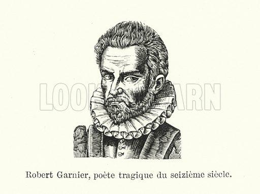 Robert Garnier, poete tragique du seizieme siecle. Illustration for Dictionnaire du Theatre by Arthur Pougin (Alcide Picard et Kaan, 1884).