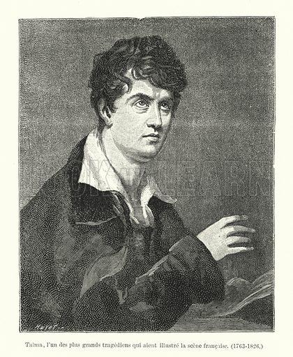 Talma, l'un des plus grands tragediens qui aient illustre la scene francaise, 1763-1826. Illustration for Dictionnaire du Theatre by Arthur Pougin (Alcide Picard et Kaan, 1884).