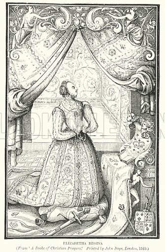 Elizabetha Regina. Illustration for A Brief History of Wood-engraving from its invention by Joseph Cundall (Sampson Low, 1895).