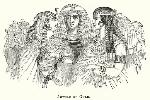 Jewels of Gold. Illustration for Youth's Illustrated Bible History by D W Thomson (National Publishing Co, 1869).