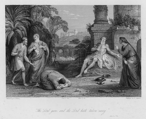 The Desolation of Job, Job I, 21. Illustration for Historic Illustrations of the Bible principally after the Old Masters (Fisher, c 1850).