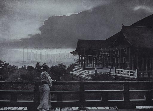 Moonlight at Kiyomizu-dera. Illustration for In Lotus-Land Japan by Herbert G Ponting (new and rev edn, 1922).