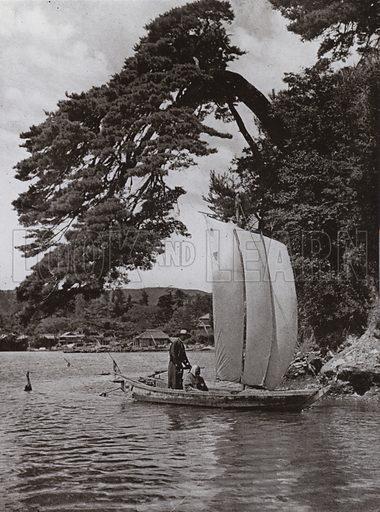 At Matsushima. Illustration for In Lotus-Land Japan by Herbert G Ponting (new and rev edn, 1922).