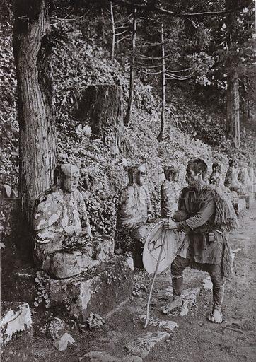 Meditation, a Study at Gamman-ga-Fuchi, Nikko. Illustration for In Lotus-Land Japan by Herbert G Ponting (new and rev edn, 1922).