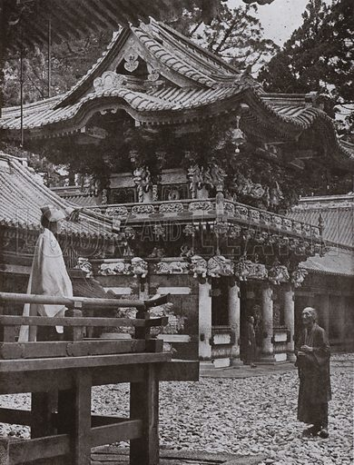 The Yomei Gate at Nikko. Illustration for In Lotus-Land Japan by Herbert G Ponting (new and rev edn, 1922).