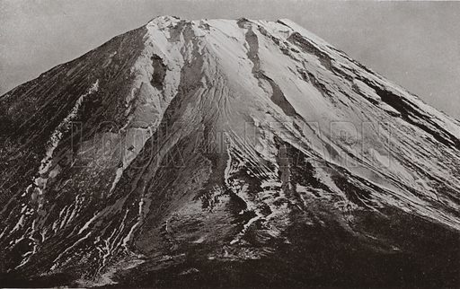 The Crest of Fuji, a Telephotograph from Shoji, 15 Miles. Illustration for In Lotus-Land Japan by Herbert G Ponting (new and rev edn, 1922).
