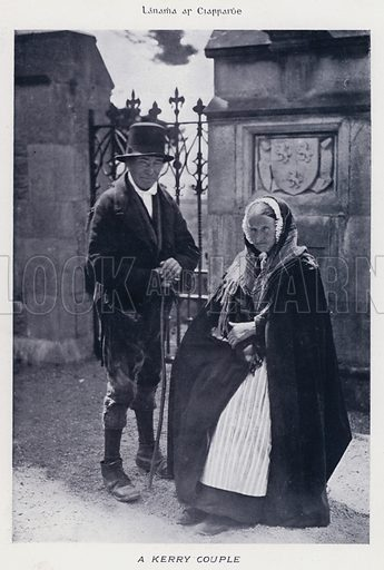 A Kerry Couple. Illustration for Types of Irish Life and Character by William Lawrence, Photographer, Dublin (Emerald Isle Album Co, c 1895).