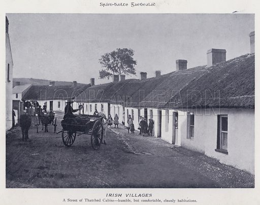 Irish Villages. Illustration for Types of Irish Life and Character by William Lawrence, Photographer, Dublin (Emerald Isle Album Co, c 1895).