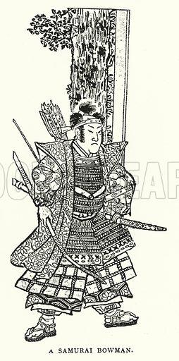 A Samurai Bowman. Illustration for The ABC of Japanese Art by J F Blacker (2nd edn, Stanley Paul, 1922).