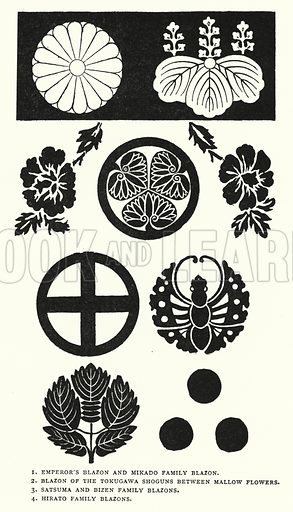 Blazons. Illustration for The ABC of Japanese Art by J F Blacker (2nd edn, Stanley Paul, 1922).