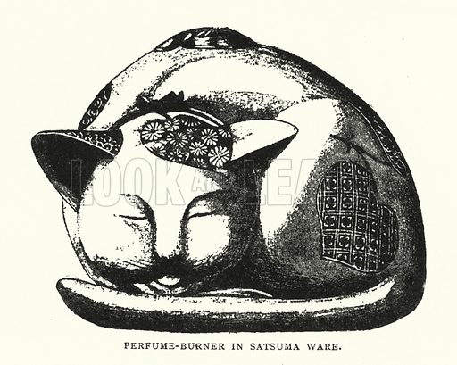 Perfume-Burner in Satsuma Ware. Illustration for The ABC of Japanese Art by J F Blacker (2nd edn, Stanley Paul, 1922).