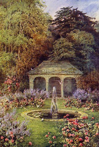 The Pool Garden. Illustration for Landscape Gardening, Planning, Constructing, Planting by Richard Sudell (Ward Lock, c 1933).