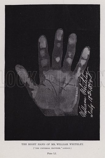 """The right hand of Mr William Whiteley, """"The Universal Provider,"""" London"""