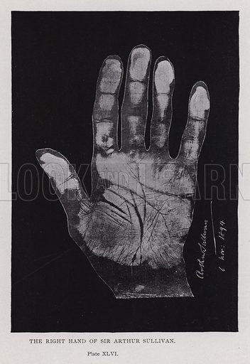 The right hand of Sir Arthur Sullivan