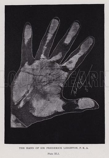 The hand of Sir Frederick Leighton