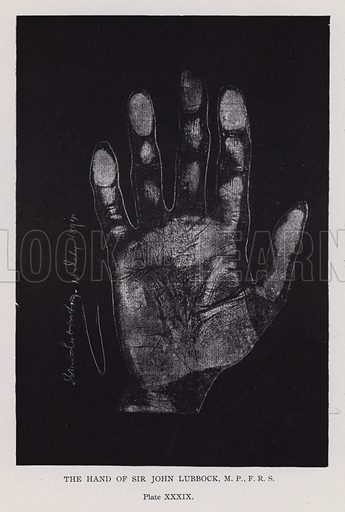 The hand of Sir John Lubbock