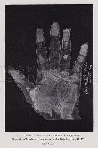 The hand of Austen Chamberlain