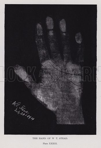 The hand of WT Stead