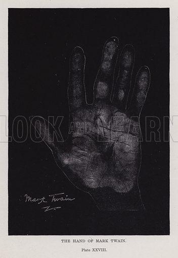 The hand of Mark Twain
